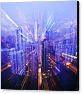 Hong Kong Lights Canvas Print by Ray Laskowitz - Printscapes
