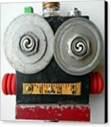 Hypno Bot Canvas Print by Jen Hardwick