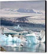 Iceland Glacier Lagoon Canvas Print by Ambika Jhunjhunwala