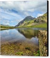 Idwal Lake Snowdonia Canvas Print by Adrian Evans