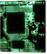 Integrated Circuit Board From A Computer Canvas Print
