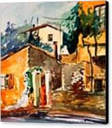 Ipiros Old Houses Canvas Print by George Siaba