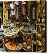 Italian Delicatessen Or Macelleria Canvas Print by Jeremy Woodhouse