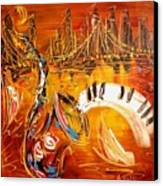Jazz City Canvas Print by Mark Kazav