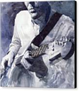 Jazz Guitarist Rene Trossman  Canvas Print by Yuriy  Shevchuk