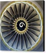 Jet Engine Detail. Canvas Print by Fernando Barozza
