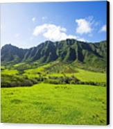 Kaaawa Valley And Kualoa Ranch Canvas Print by Dana Edmunds - Printscapes