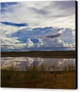 Kalahari Rain Dance Canvas Print by Basie Van Zyl