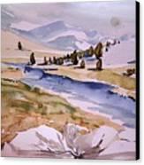 Kennedy Meadows Half In Winter Canvas Print by Amy Bernays