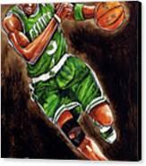 Kevin Garnett Canvas Print by Dave Olsen