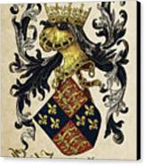 King Of England Coat Of Arms - Livro Do Armeiro-mor Canvas Print by Serge Averbukh