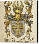 Kingdom Of Jerusalem Coat Of Arms - Livro Do Armeiro-mor Canvas Print