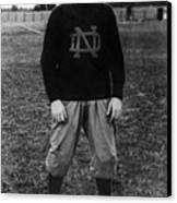 Knute Rockne, University Of Notre Dame Canvas Print