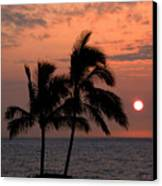 Kona Sunset Canvas Print by Kelly Wade