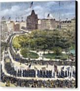 Labor Day Parade, 1882 Canvas Print