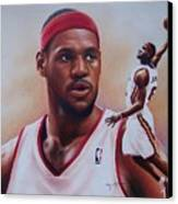 Lebron James Canvas Print by Cory McKee