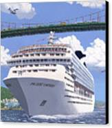 Lions Gate Bon Voyage Canvas Print by Neil Woodward