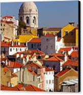 Lisbon View Canvas Print by Carlos Caetano