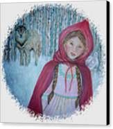 Little Red Riding Hood  Canvas Print by The Art With A Heart By Charlotte Phillips