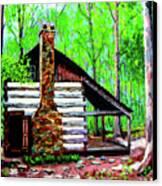Log Cabin V Canvas Print