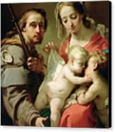 Madonna And Child Canvas Print by Gaetano Gandolfi