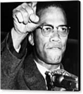 Malcolm X (1925-1965) Canvas Print by Granger