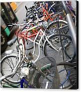 Many Bikes Canvas Print