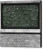Maths Formula On Chalkboard Canvas Print