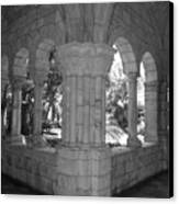 Miami Monastery In Black And White Canvas Print