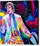 Michael Jackson Smooth Criminal Canvas Print by David Lloyd Glover