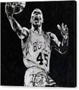 Michael Jordan Canvas Print by Hari Mohan