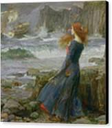 Miranda Canvas Print by John William Waterhouse