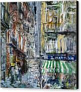 Naples Kiosk Canvas Print