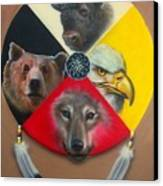 Native American Medicine Wheel Canvas Print by Amatzia Baruchi