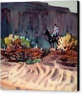 Navajo Rider Canvas Print