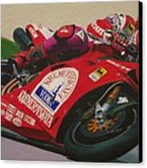 Neil Hodgson - Ducati World Superbike Canvas Print by Jeff Taylor