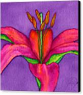 Neon Lily Canvas Print