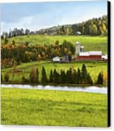 New England Farm Canvas Print by Betty LaRue