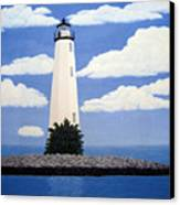 New Point Comfort Lighthouse Canvas Print