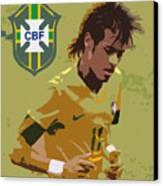 Neymar Art Deco Canvas Print by Lee Dos Santos