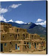 North Pueblo Taos Canvas Print by Kurt Van Wagner