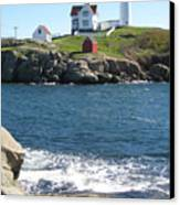 Nubble In October Canvas Print