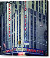 Nyc Radio City Music Hall Canvas Print by Nina Papiorek