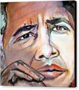 Obama II Canvas Print by Valerie Wolf