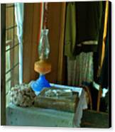 Oil Lamp And Bible Canvas Print