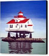 Old Plantation Flats Lighthouse Canvas Print