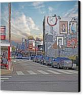 Pat's And Geno's Canvas Print by Jack Paolini