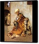 Pelt Merchant Of Cairo - 1869 Canvas Print by Jean-Leon Gerome