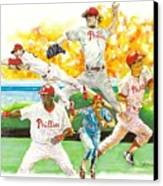 Phillies Through The Ages Canvas Print