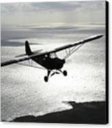 Piper L-4 Cub In Us Army D-day Colors Canvas Print